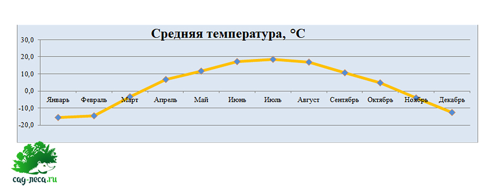 средняя температура в Чарышском районе